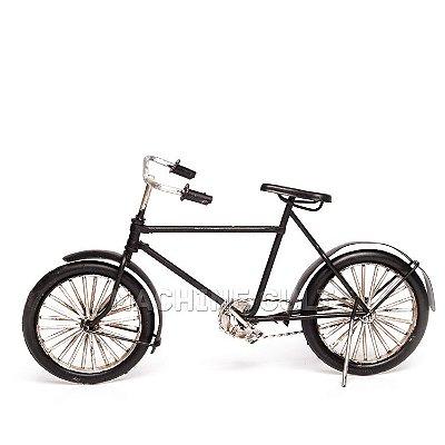 Miniatura Bicicleta Antiga - Preta