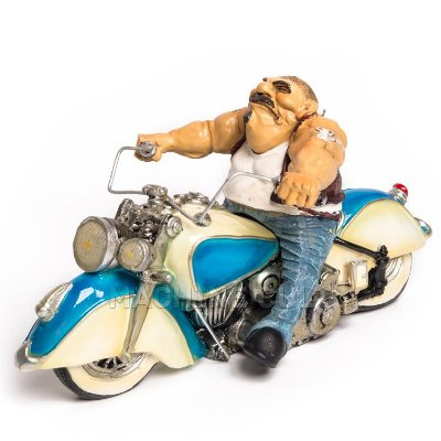 Miniatura Vintage - Motociclista Bad Boy