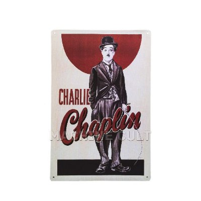 Placa Decorativa Charlie Chaplin