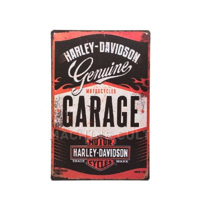 Placa Decorativa em Metal - Harley-Davidson Genuine