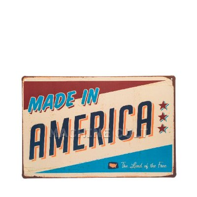 Placa Decorativa Made in America