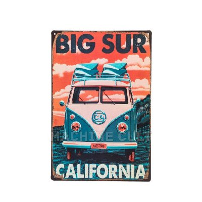 Placa Decorativa Perua Kombi - California