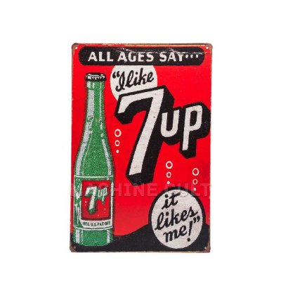 Placa Decorativa Vintage - 7up