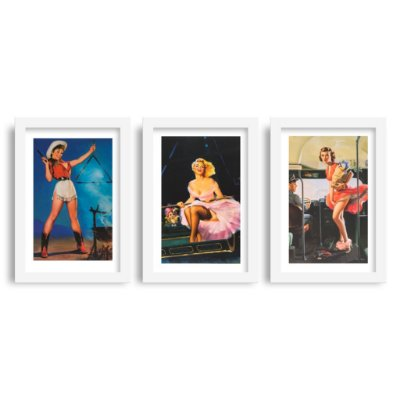 Combo 3 Quadros Pin-Up - Kit 2