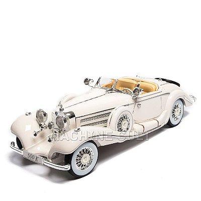 Miniatura 1936 Mercedes-Benz 500 K Typ Special Roadster - Branco - Maisto 1:18