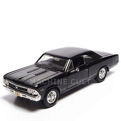 Miniatura Chevrolet Chevelle SS 396 Preto 1966 - Maisto 1:24