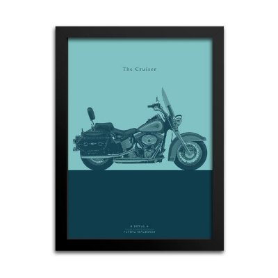 Quadro Moto Custom Decorativo