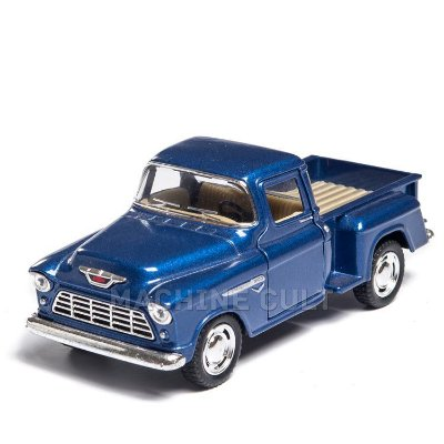 Miniatura 1955 Chevy Stepside Pick-Up 1:32 - Azul