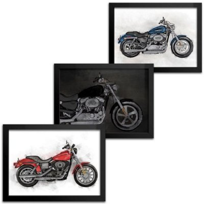 Combo 3 Quadros Motocicleta - 18x24cm