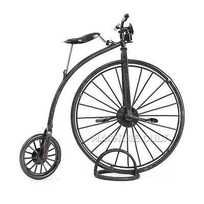 "Miniatura Decorativa - Bicicleta Roda Grande - ""Penny-Farthings"""