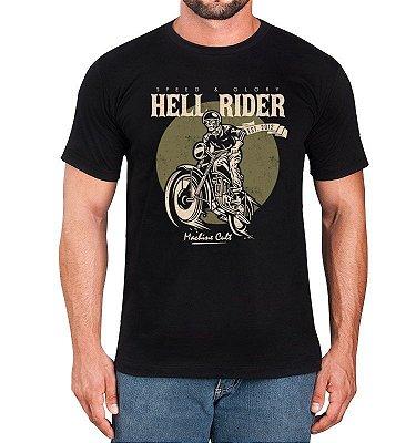 Camiseta de Moto Preta - Hell Rider