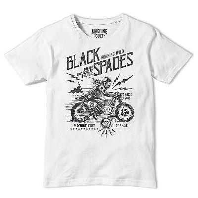 Camiseta Moto Branca - Black Spades