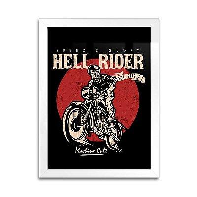 Quadro Decorativo Moto – Hell Rider