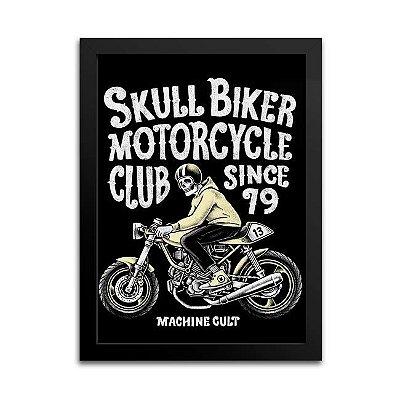 Quadro Motocicleta Antiga Decoração