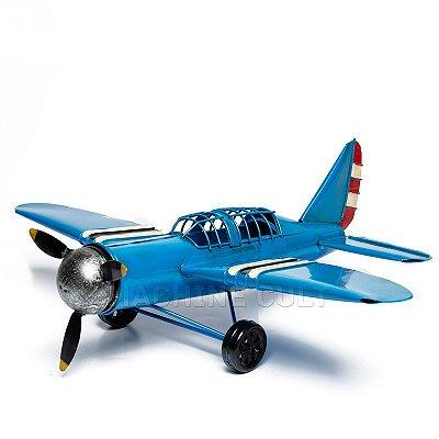 Miniatura Avião Azul Marinho