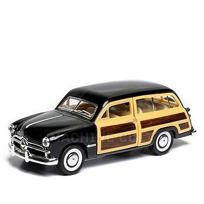Miniatura Ford Woody Wagon 1949 Preto - 1:40