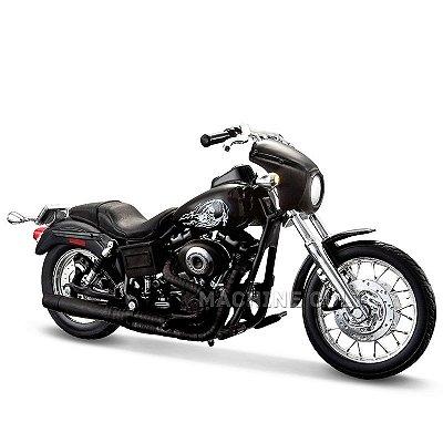 Miniatura Moto Sons of Anarchy Jax - 2003 Harley-Davidson Dyna Super Glide Sport - Maisto 1:18