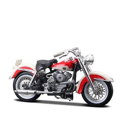 Miniatura Harley-Davidson 1958 FLH Duo Glide - Maisto 1:24