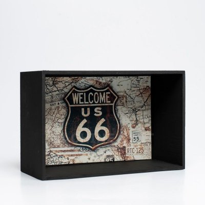 Expositor de Miniaturas Route 66 10x15cm - MD29