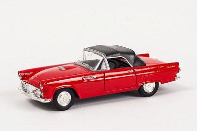 Miniatura Ford Thunderbird 1955 Vermelho - Welly - 1:34