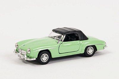 Miniatura Mercedes-Benz 190SL 1955 Verde - Welly - 1:34