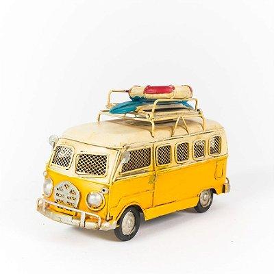 Miniatura Perua Kombi VW - Amarela