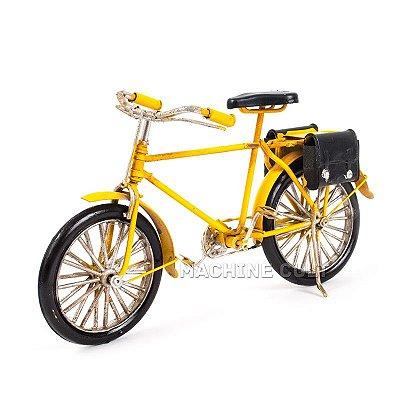 Miniatura Bicicleta Antiga com Alforges - Amarela