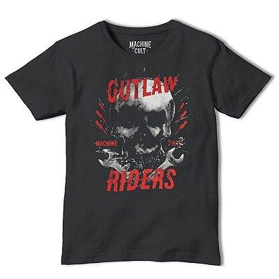 Camiseta Caveira Outlaw Riders
