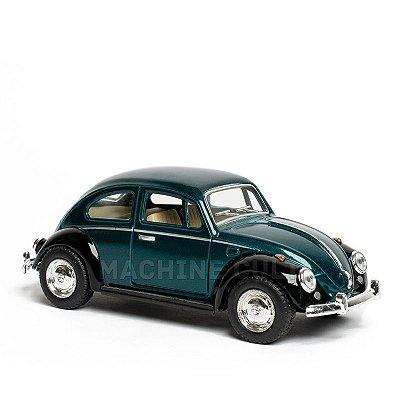 Miniatura Fusca 1967 Bicolor - Preto e Verde - 1:32