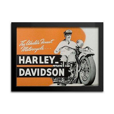 Quadro Harley-Davidson - 1947 - decoração