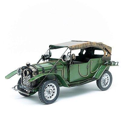 Miniatura Carro Antigo com Capota - Verde
