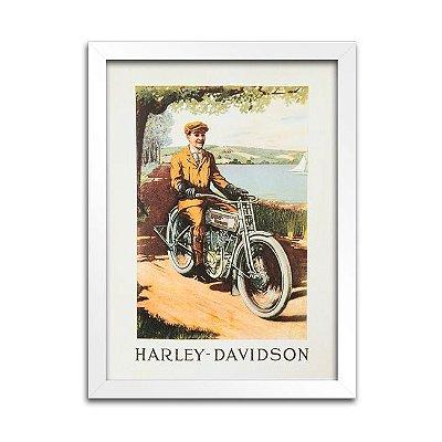 Quadro Harley-Davidson Antigo - 1913