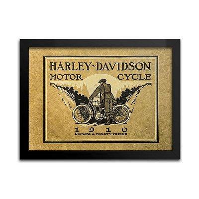 Quadro Harley-Davidson Antigo - 1910
