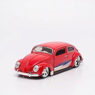 Miniatura Volkswagen Fusca Vermelho - Beetle - Maisto - 1:24