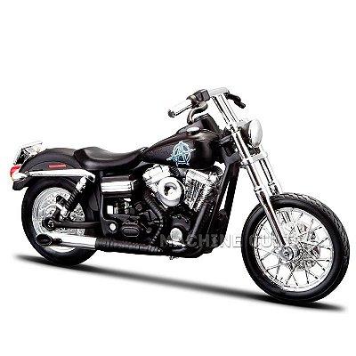 Miniatura Moto Sons of Anarchy Chibs - 2006 Harley-Davidson FXDBI Dyna Street Bob - Maisto 1:18