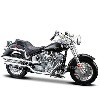 Miniatura Moto Harley-Davidson 2004 FLSTFI Fat Boy Maisto 1:18