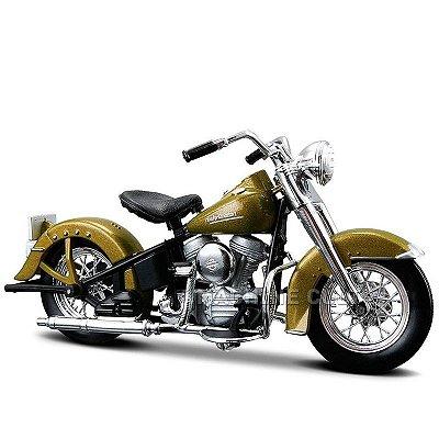 Miniatura Moto Harley-Davidson 1953 74FL Hydra Glide Maisto 1:18