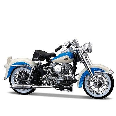 Miniatura Moto Harley-Davidson 1958 FLH Duo Glide Maisto 1:18