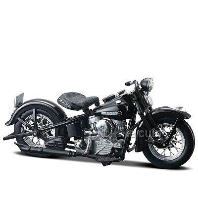 Miniatura Moto Harley-Davidson 1948 FL Panhead Maisto 1:18