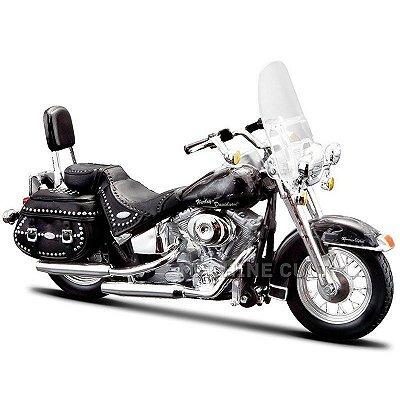 Miniatura Moto Harley-Davidson 2002 FLSTC Heritage Softail Classic Maisto 1:18