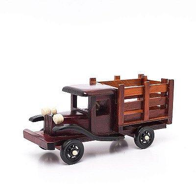 Miniatura Caminhão em Madeira