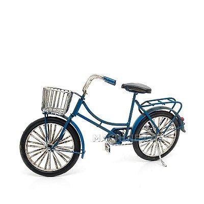 Miniatura Bicicleta com Cestinha Vintage