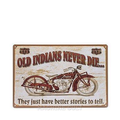 Placa Decorativa Moto Indian