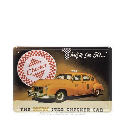 Placa Decorativa Taxi Vintage