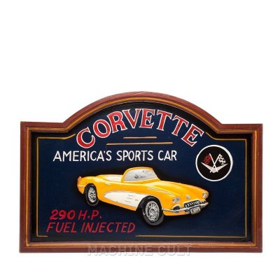 Placa Decorativa Corvette - Alto Relevo