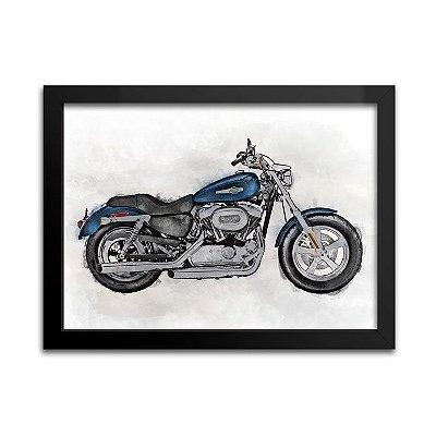 Quadro Decorativo - Moto Azul