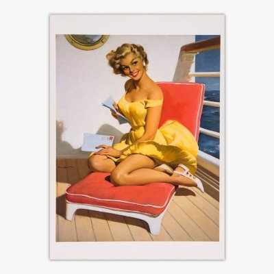 Cartão Postal Pin-Up - See Worthy - Haddon Sundblom