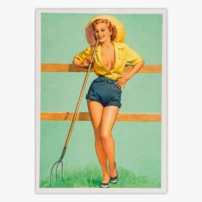 Cartão Postal Pin-Up - That Ain't Hay - Pearl Frusch
