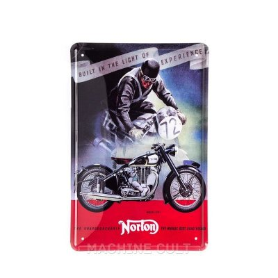 Placa Decorativa Moto Norton