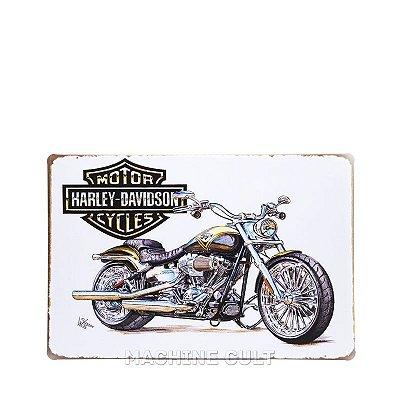 Placa Harley-Davidson Retrô